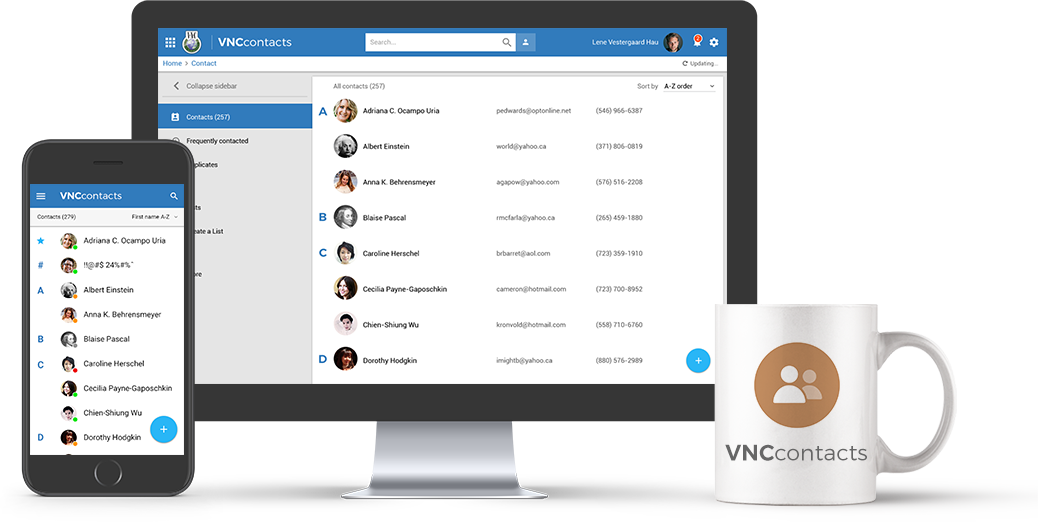 VNCcontacts+ for complete contacts and access management