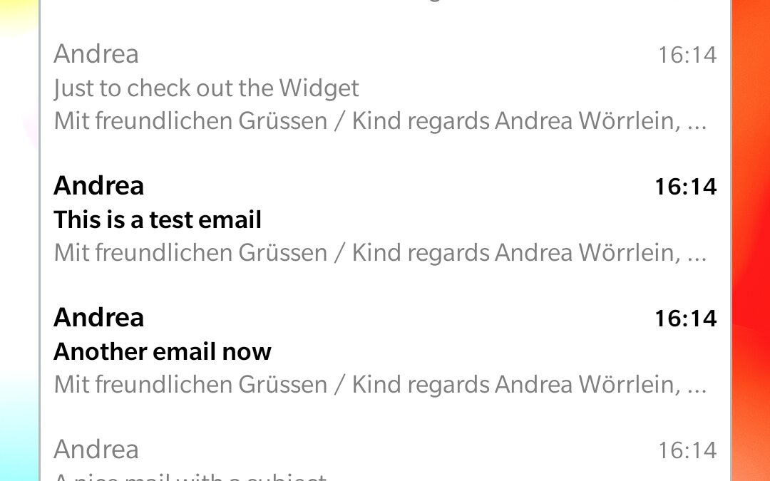 Sneak Peek: das VNCmail Widget!