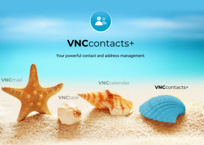 VNCcontacts+ on start screen at VNCdirectory